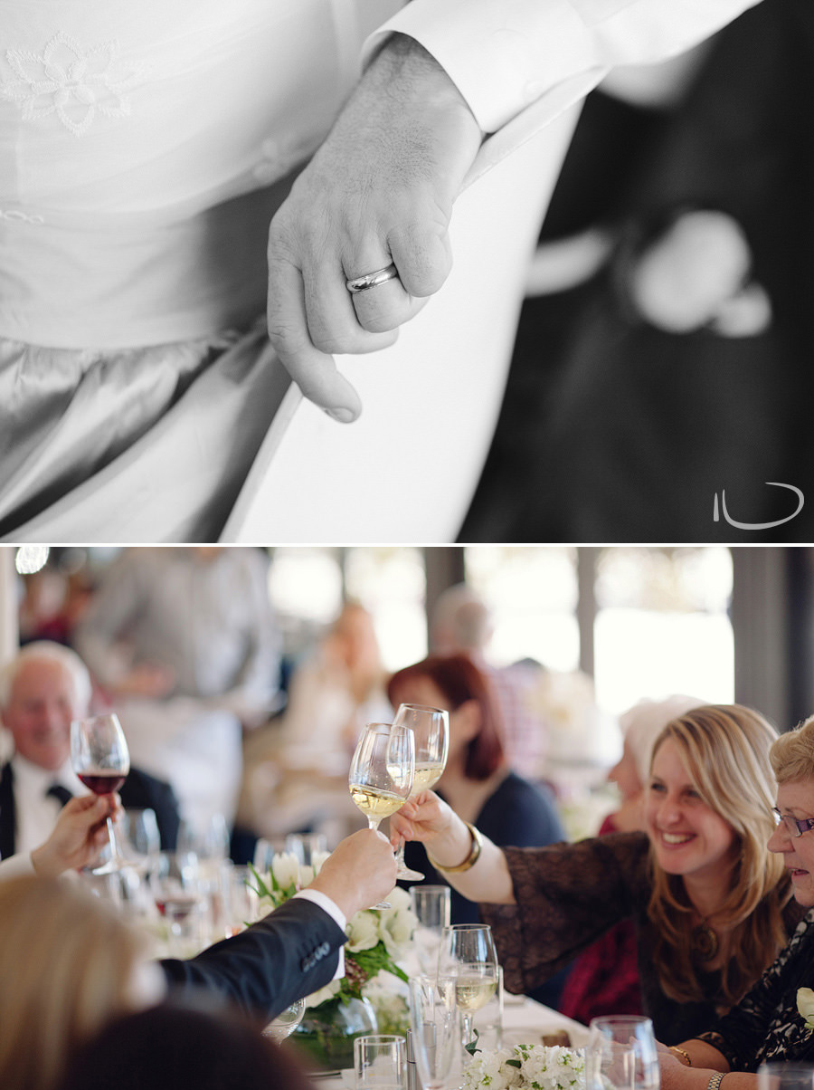 Public Dining Room Wedding Photography: Toast