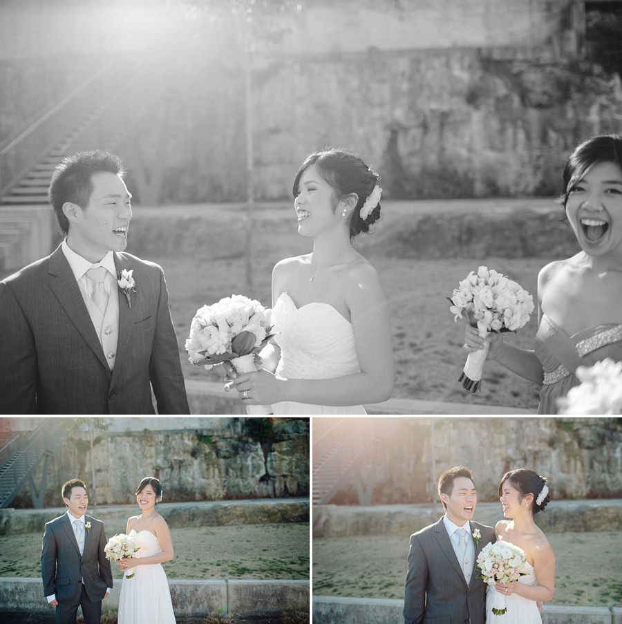 Ballast Point Park Wedding Photography: Bride & Groom laughing