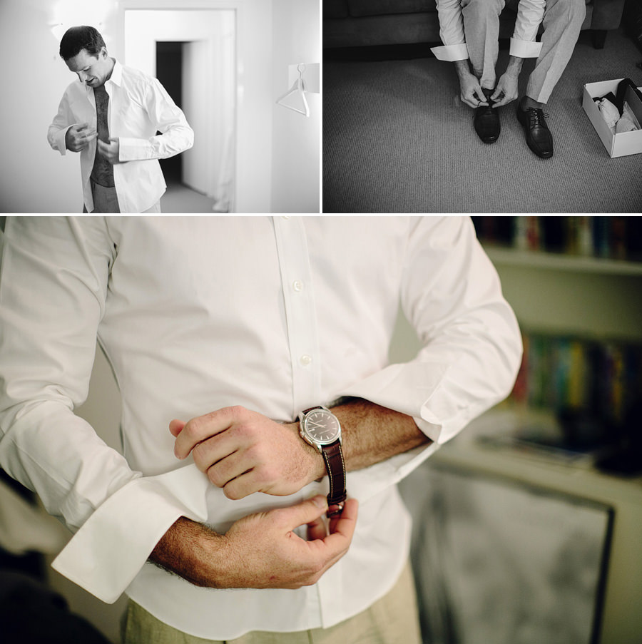 Ballina Wedding Photographers: Groom getting ready