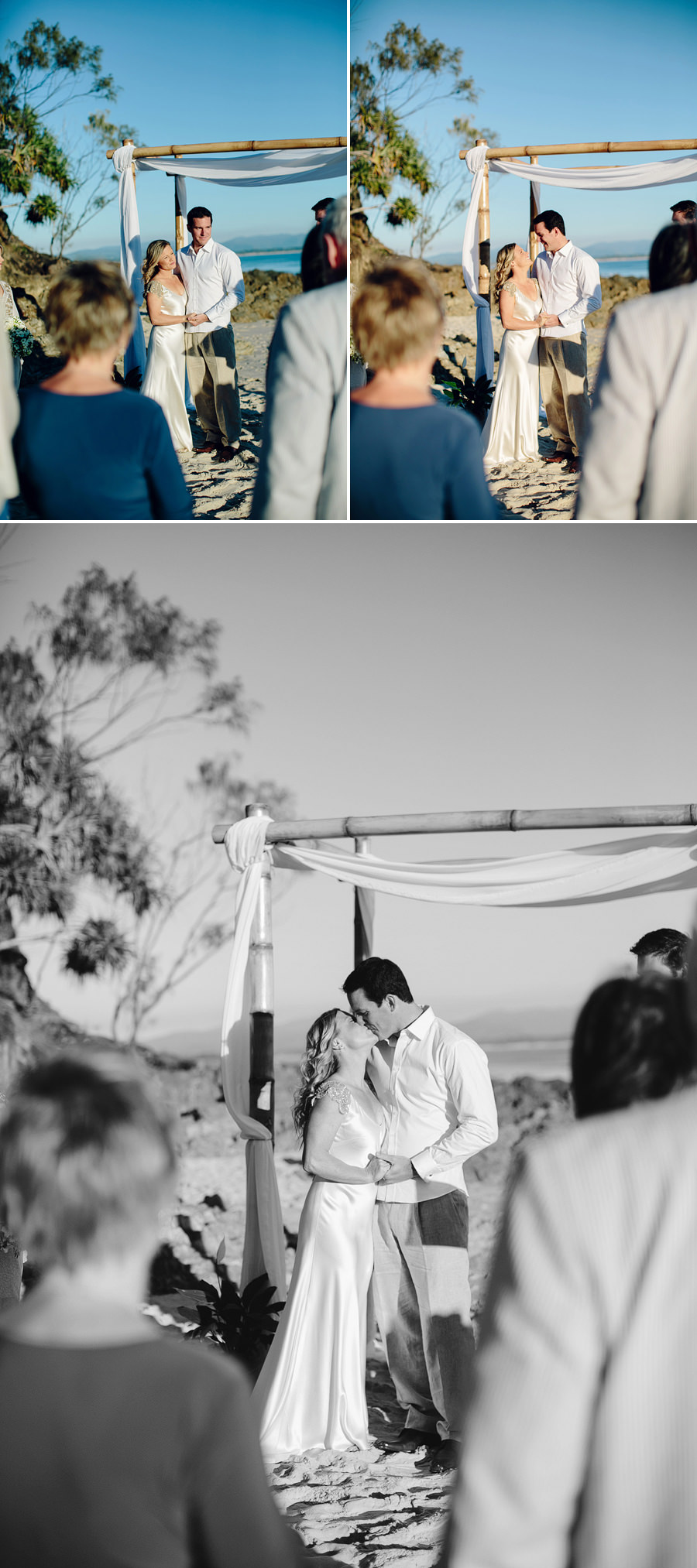 Beach Wedding Photographer: Kiss the bride