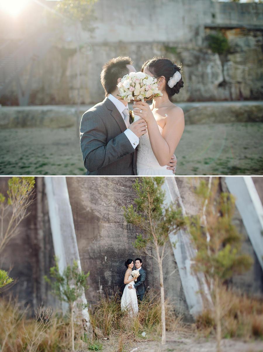 Birchgrove Wedding Photographer: Bride & Groom sneaky kiss
