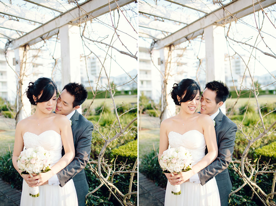 Breakfast Point Wedding Photographer: Elegant Bridal & Groom portrait