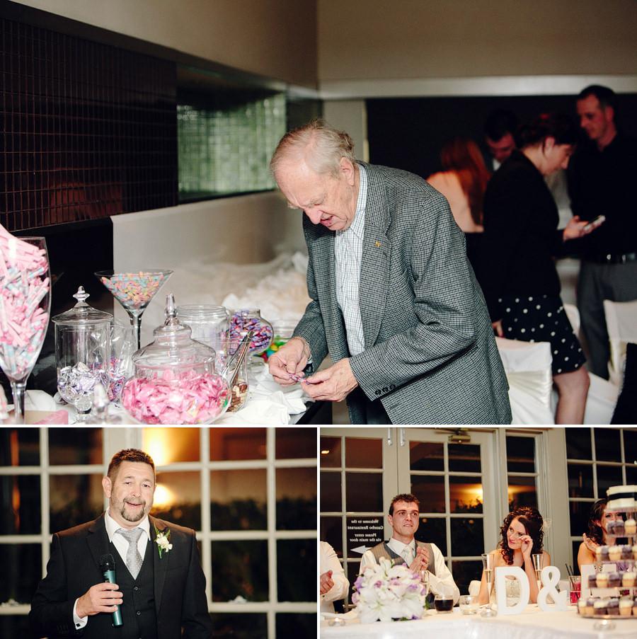 Gazebo Wedding Photographer: Grandpa at candy bar