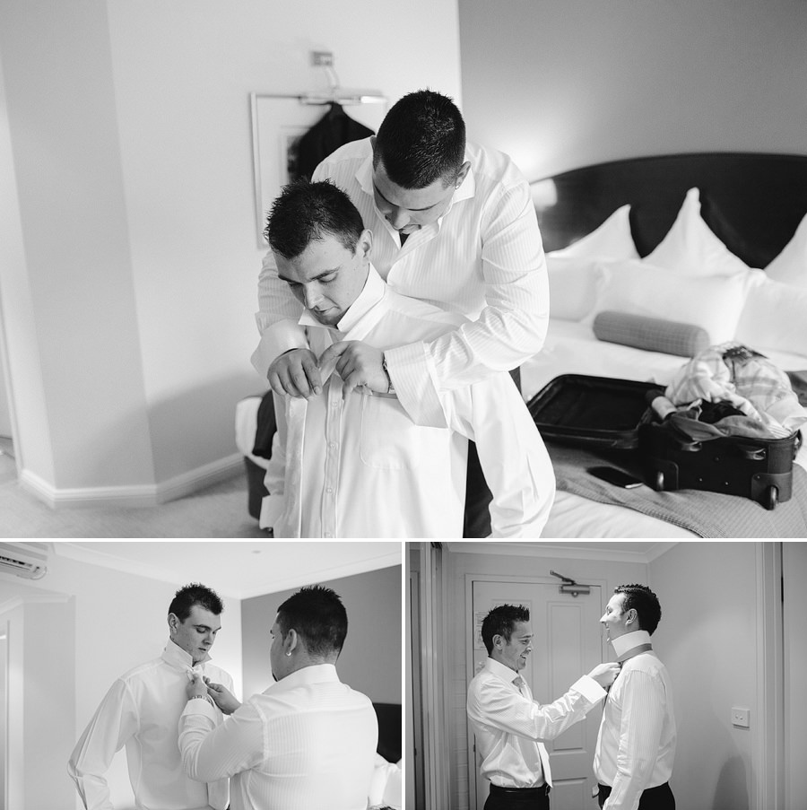 Hawksbury Valley Wedding Photographers: Boys getting ready
