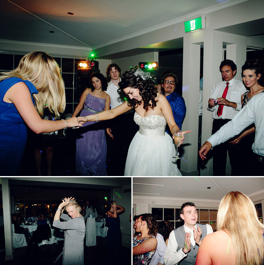 Modern Wedding Photographers: Bride & groom partying