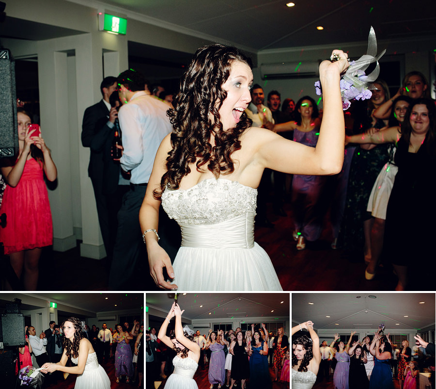 Modern Wedding Photography: Bouquet toss