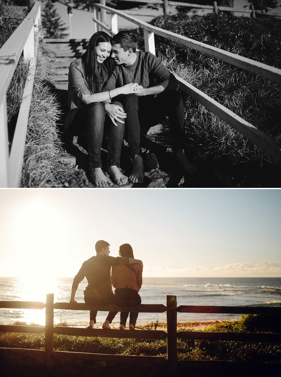 Northern Beaches Engagement Photography: Mona Vale Beach