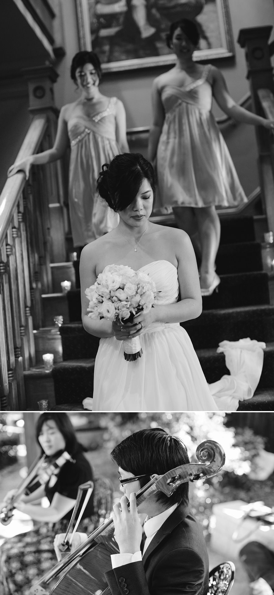 Peakurst Wedding Photographers: Bride walking down stairs