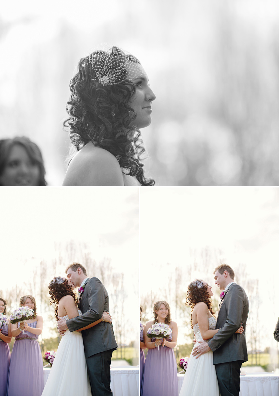 Richmond Wedding Photographer: First kiss