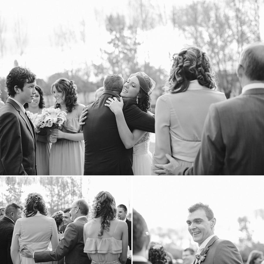 Richmond Wedding Photographers: Congratulatory hugs