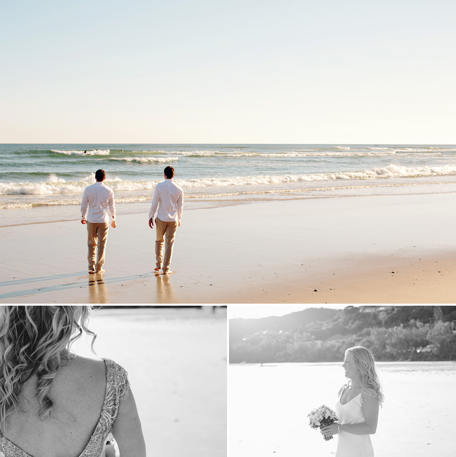 Romantic Wedding Photographers: Brothers on the beach