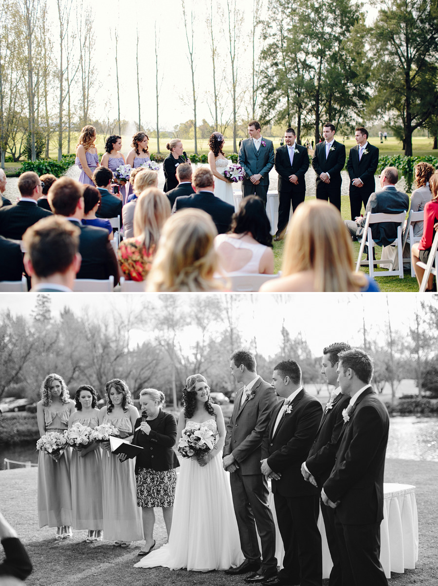 Sebel Hawksbury Valley Wedding Photographers: Bridal party during ceremony