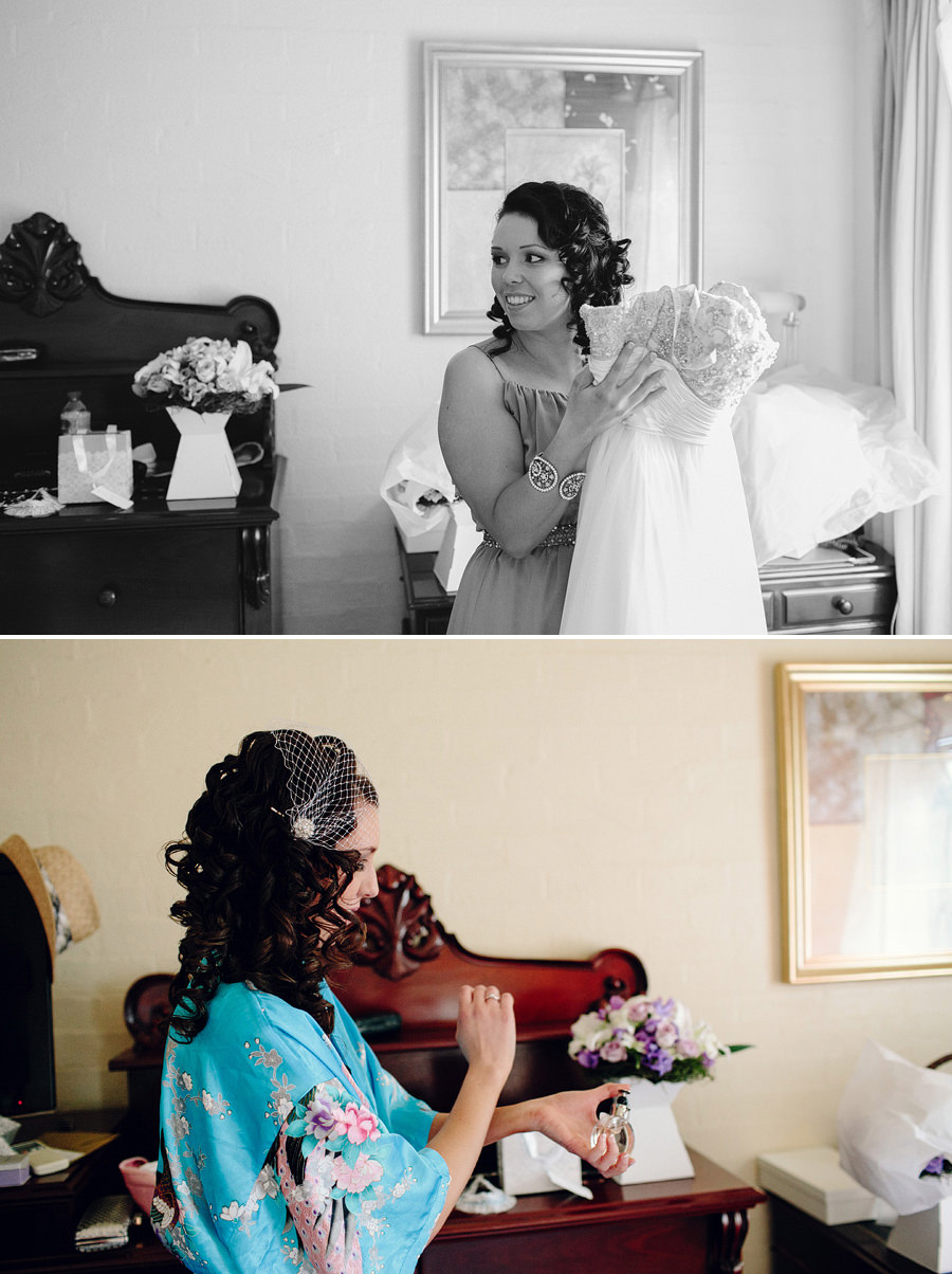 Sebel Wedding Photographer: Bride getting ready