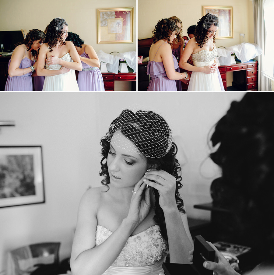 Sebel Wedding Photographers: Bridesmaids dressing bride