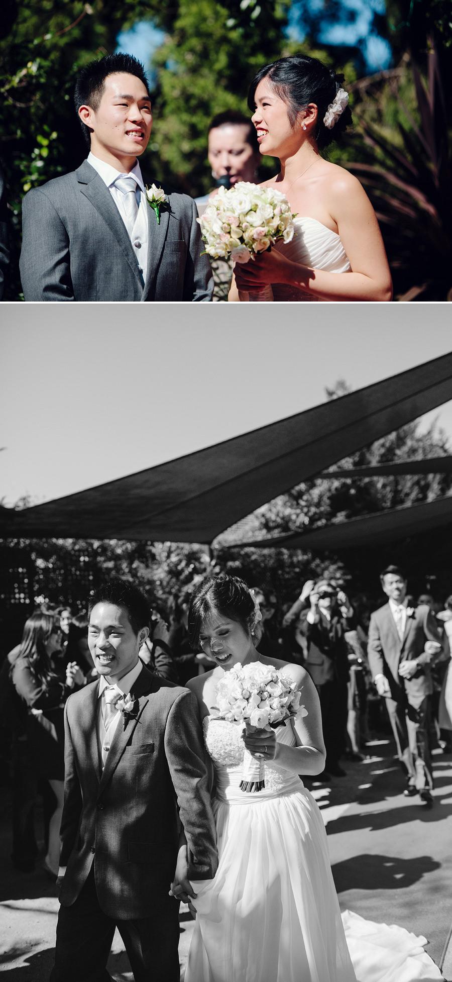 Sutherland Shire Wedding Photographer: Bride & groom leaving ceremony