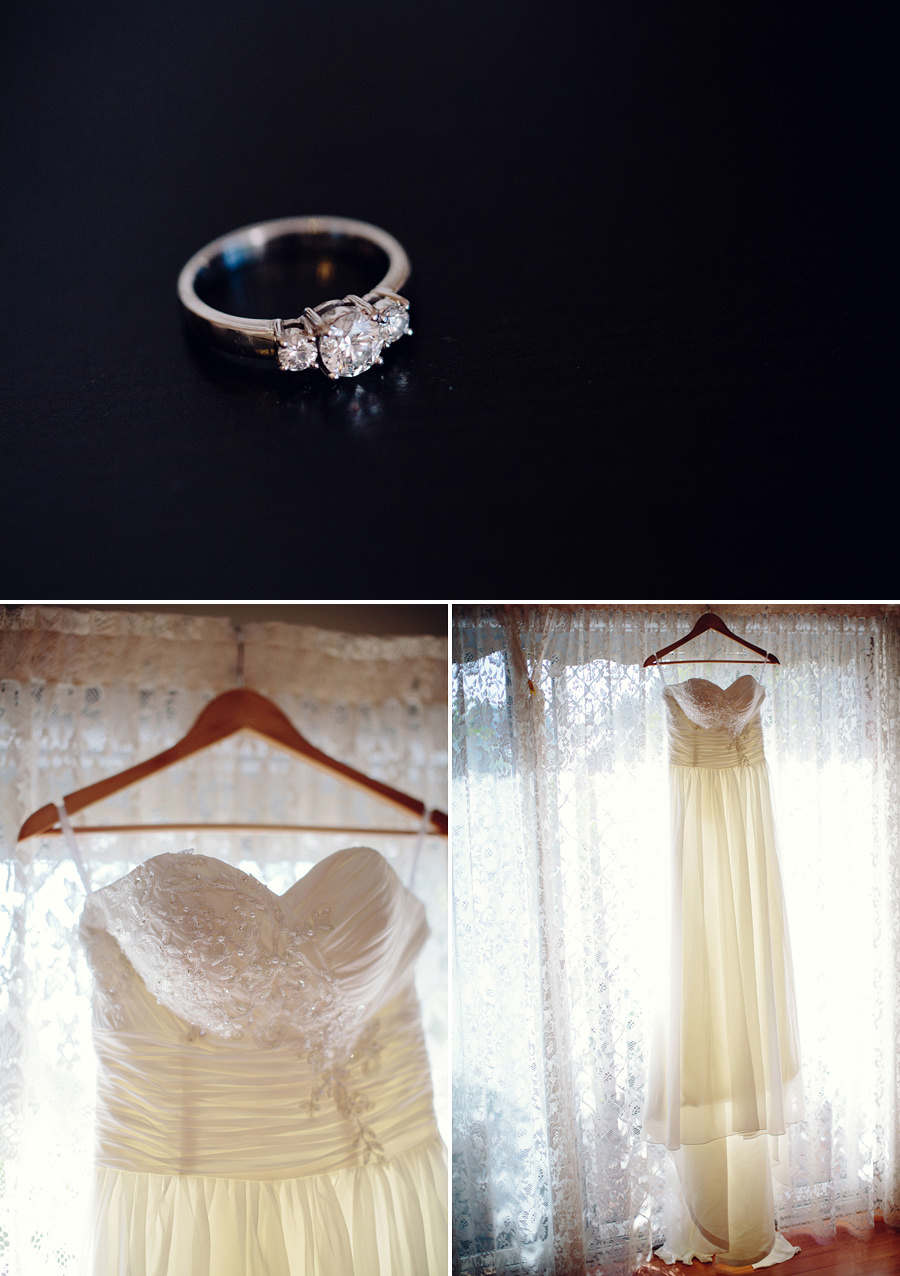 Sydney Wedding Photographer: Dress details & engagement ring