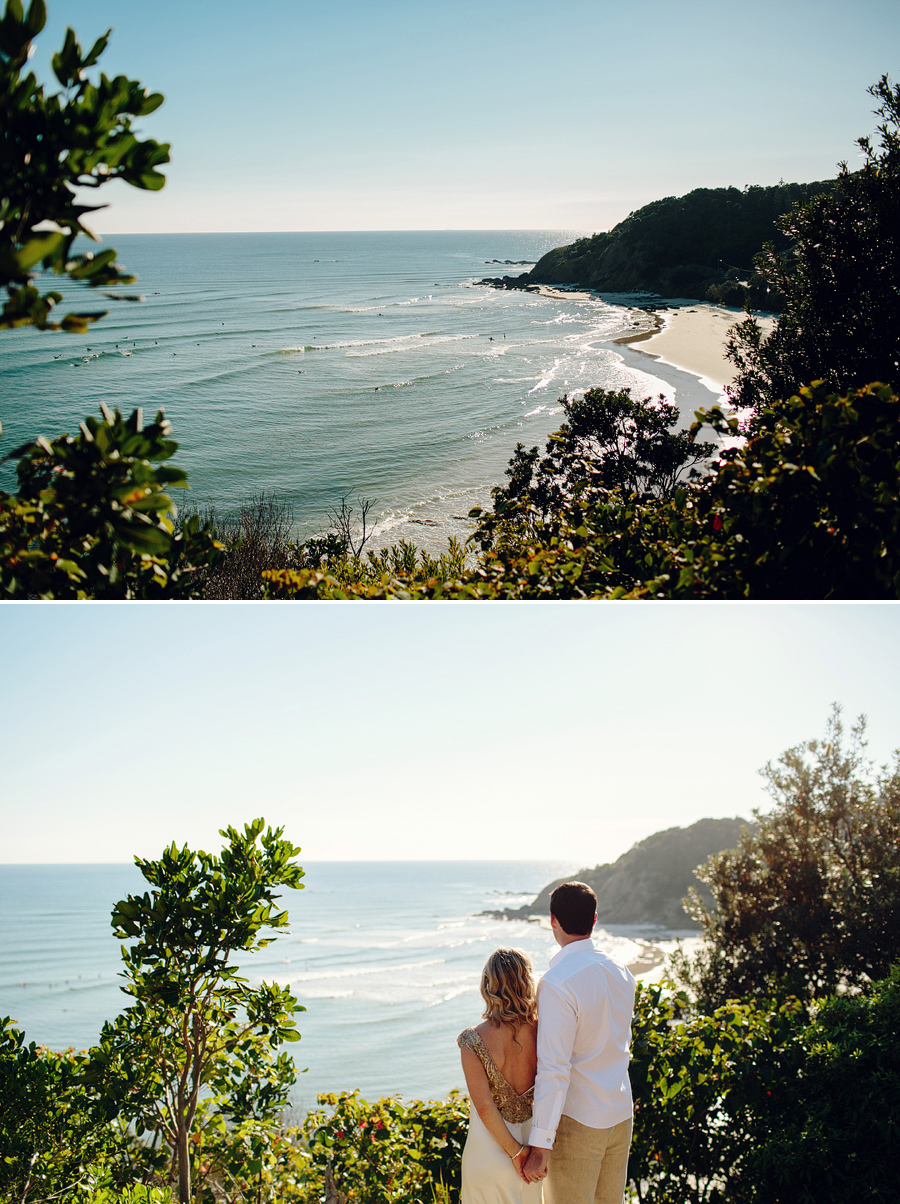 Wategos Wedding Photographer: Overlooking beach