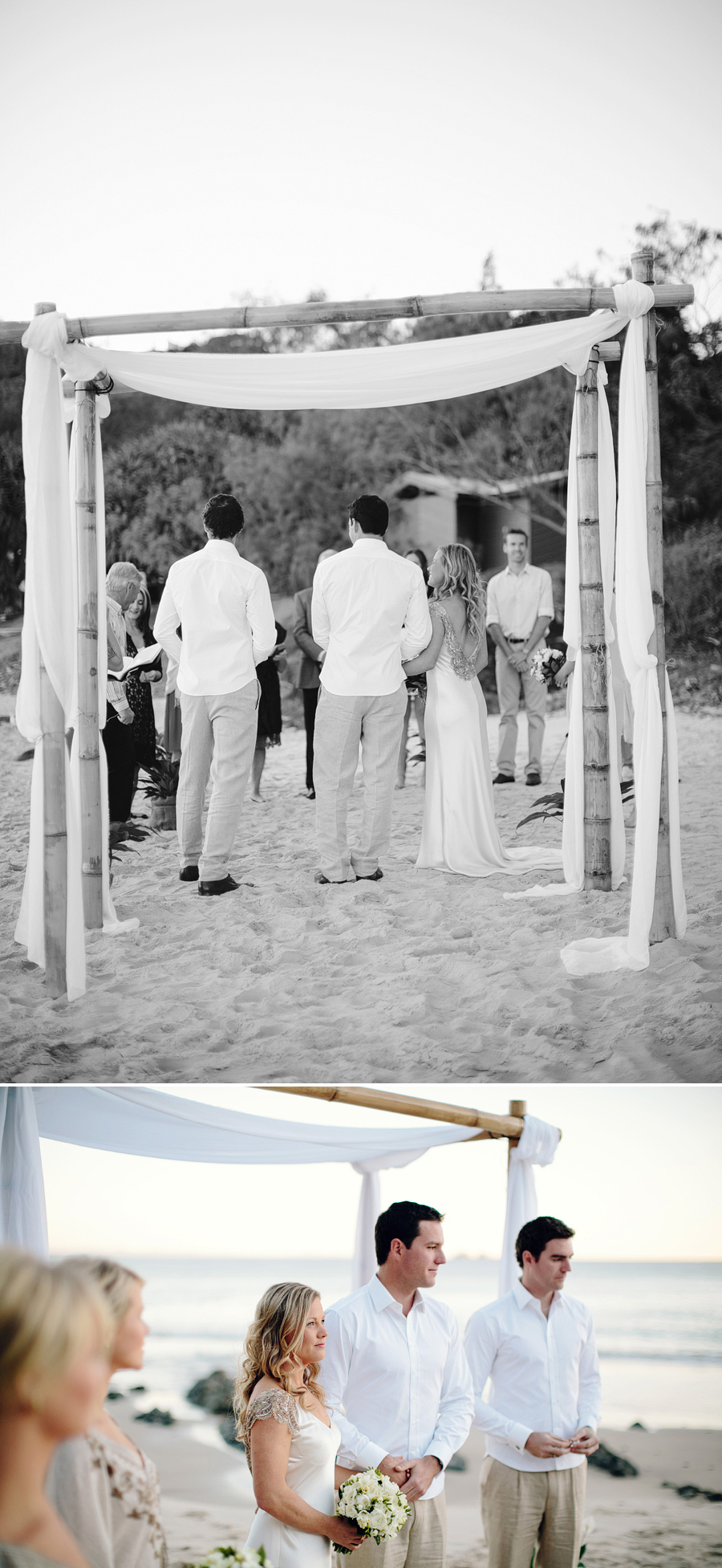 Wategos Wedding Photography: Beach sunrise ceremony