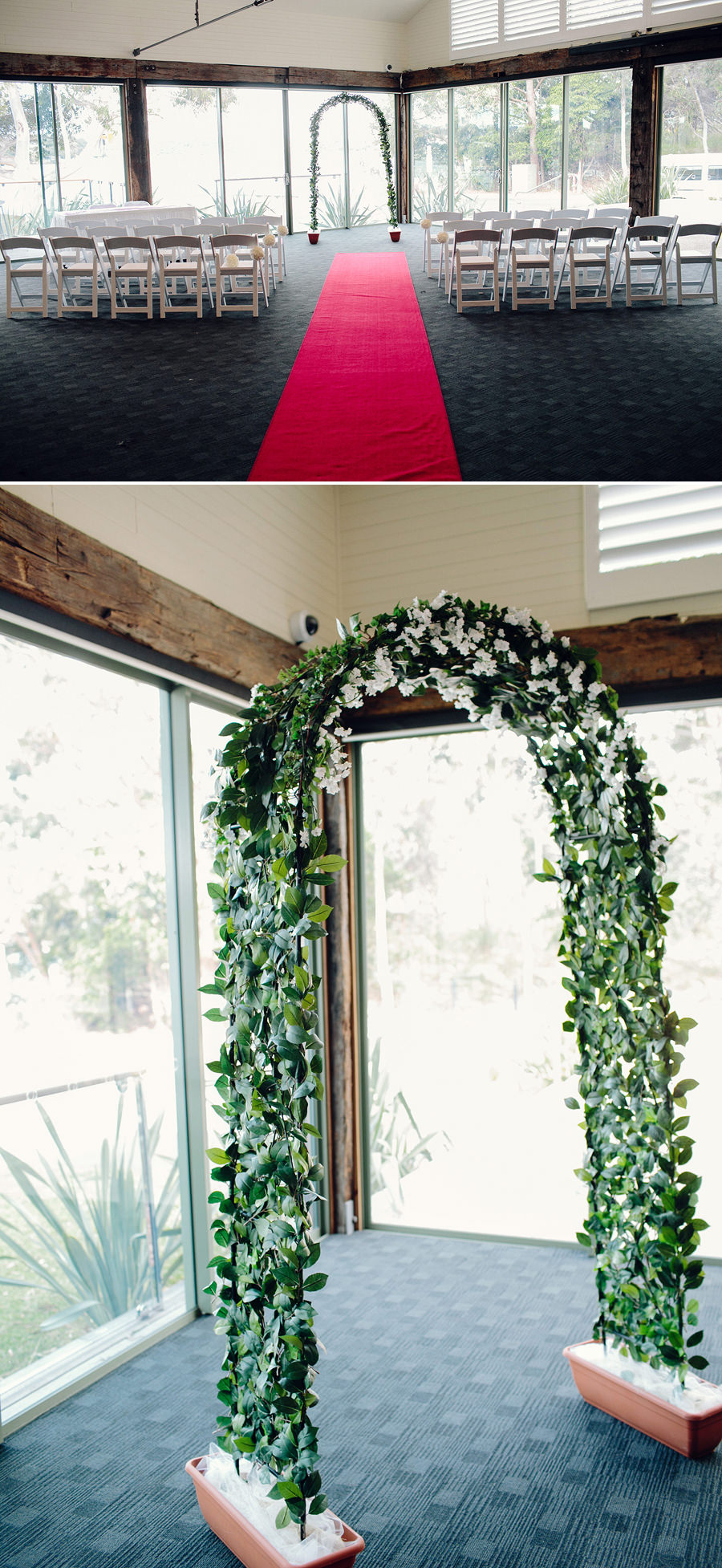 Deckhouse Wedding Photographer: Bridal arch