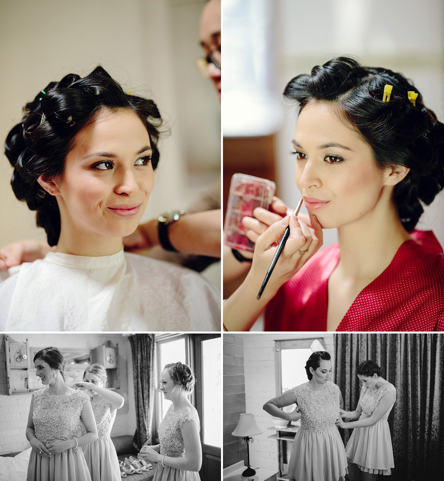 Documentary Wedding Photographer: Bride & bridesmaids getting ready