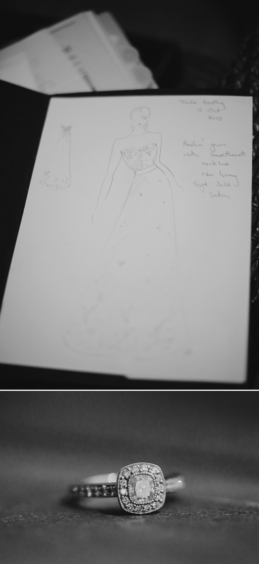 Fine Art Wedding Photographer: Wedding dress sketch