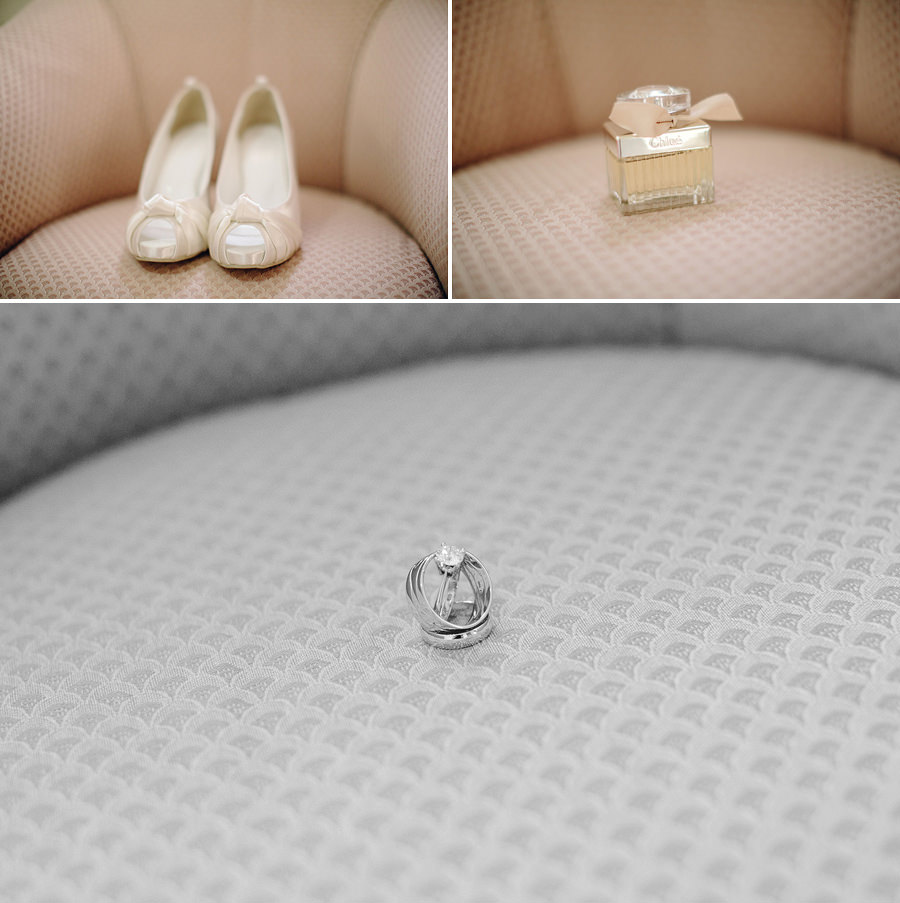 Granville Wedding Photographer: Shoes, perfume & rings