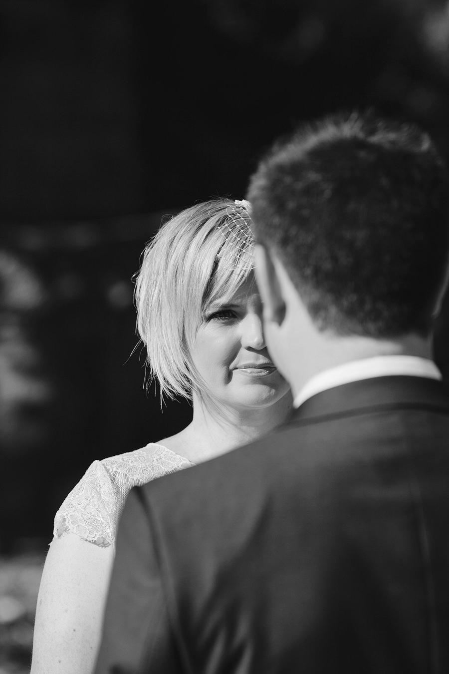 Inner West Wedding Photographers: Bride during ceremony