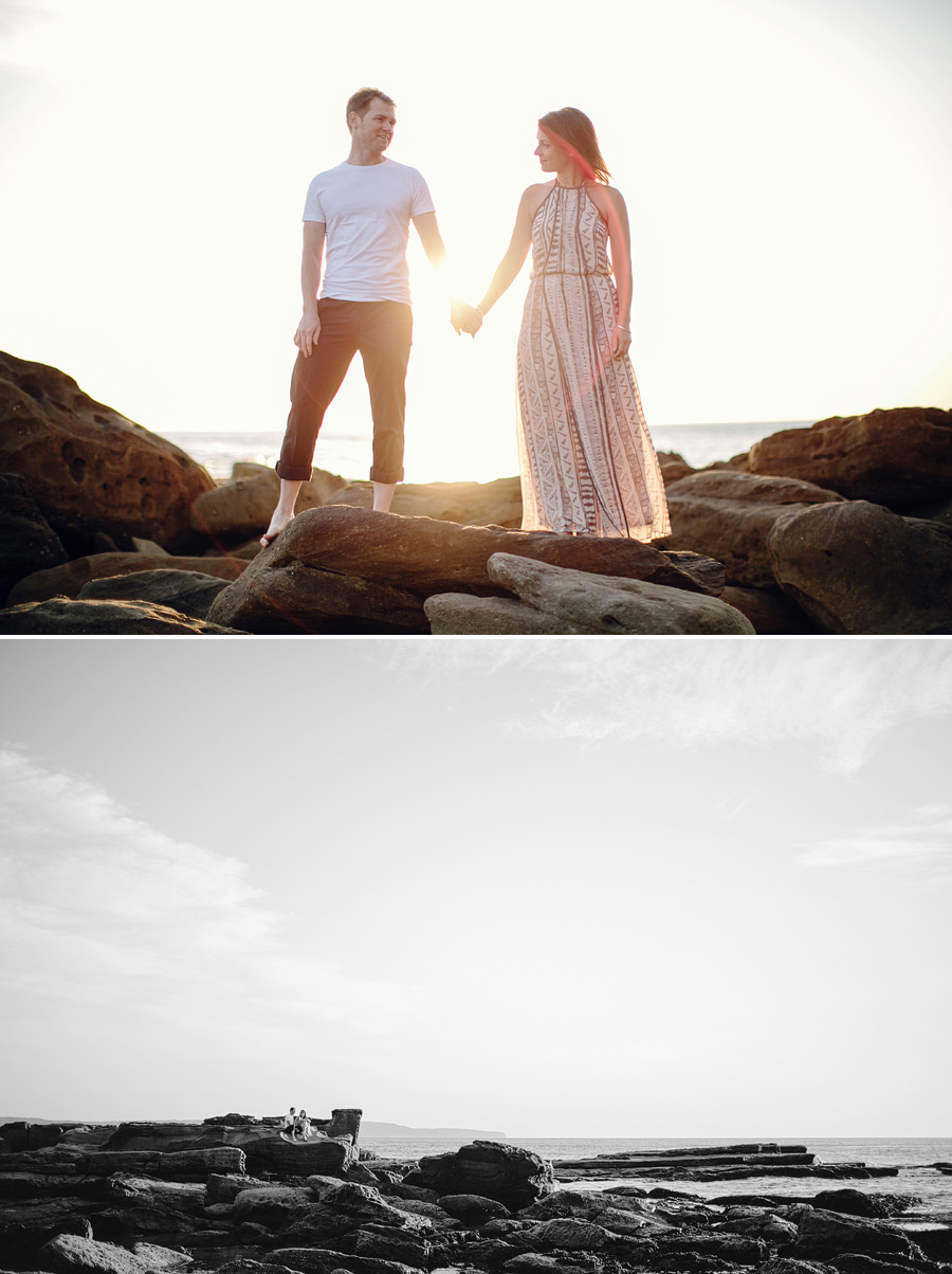 Northern Beaches Wedding Photographer: Sunrise engagement session at Palm Beach