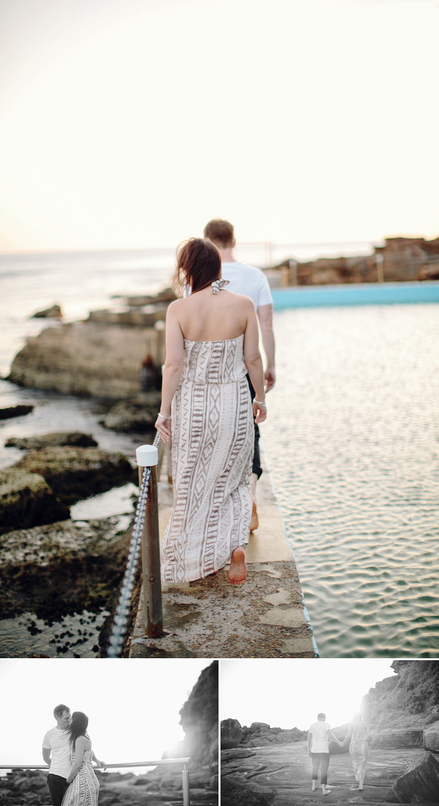 Palm Beach Engagement Photographers: Rock pool