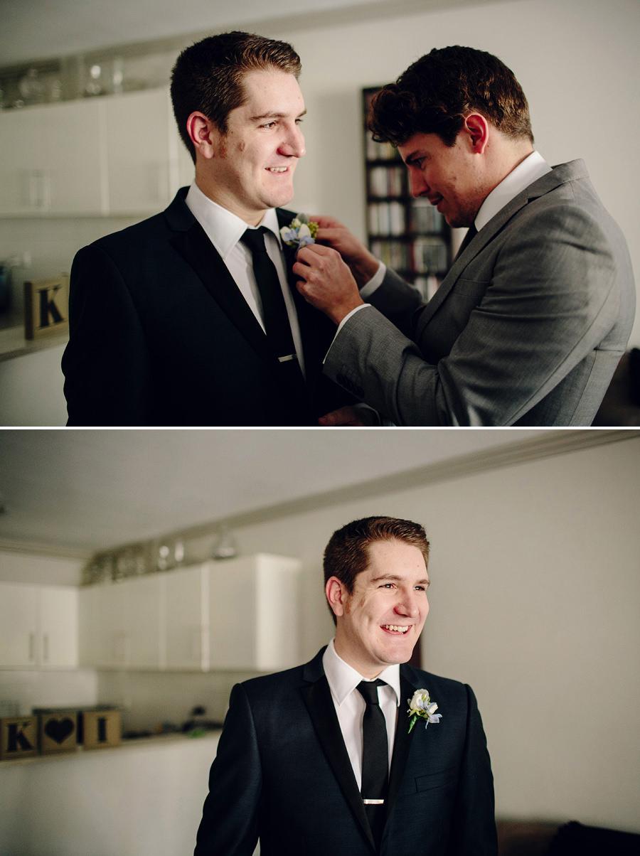 Petersham Wedding Photography: Groom getting ready