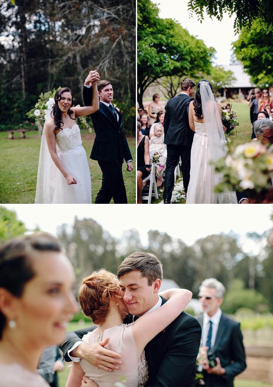 Photojournalistic Wedding Photographer: Bride & Groom walking down the aisle