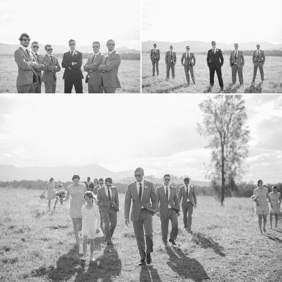 Pokolbin Wedding Photographers: Groom & Groomsmen