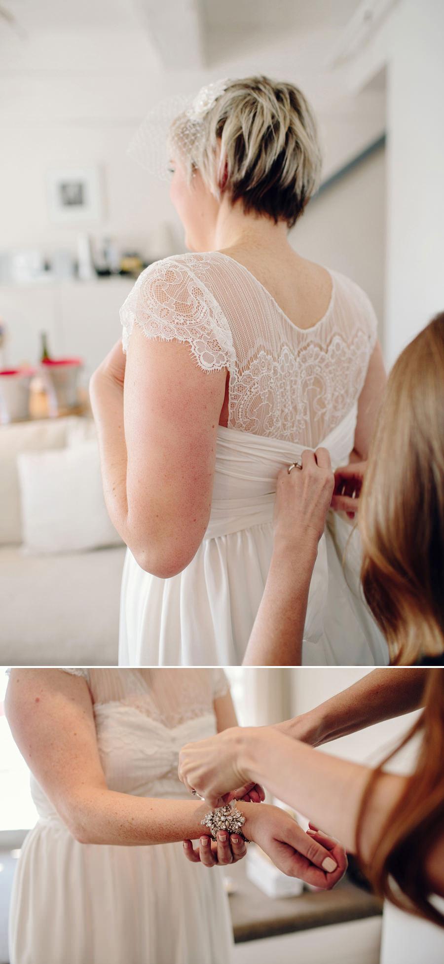 Sebel Wedding Photographers: Bride getting dressed