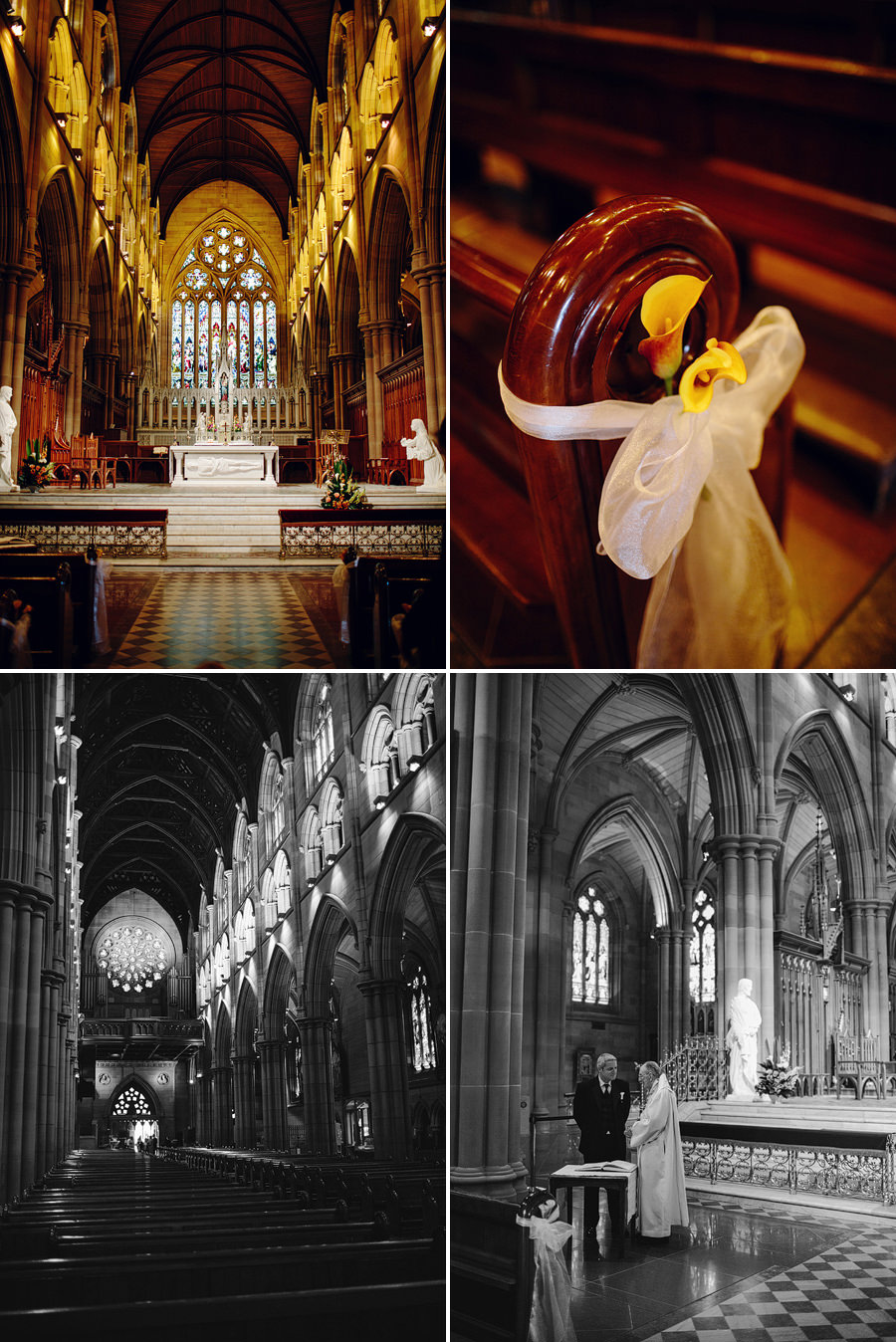 St Marys Cathedral Wedding Photographers: Inside cathedral
