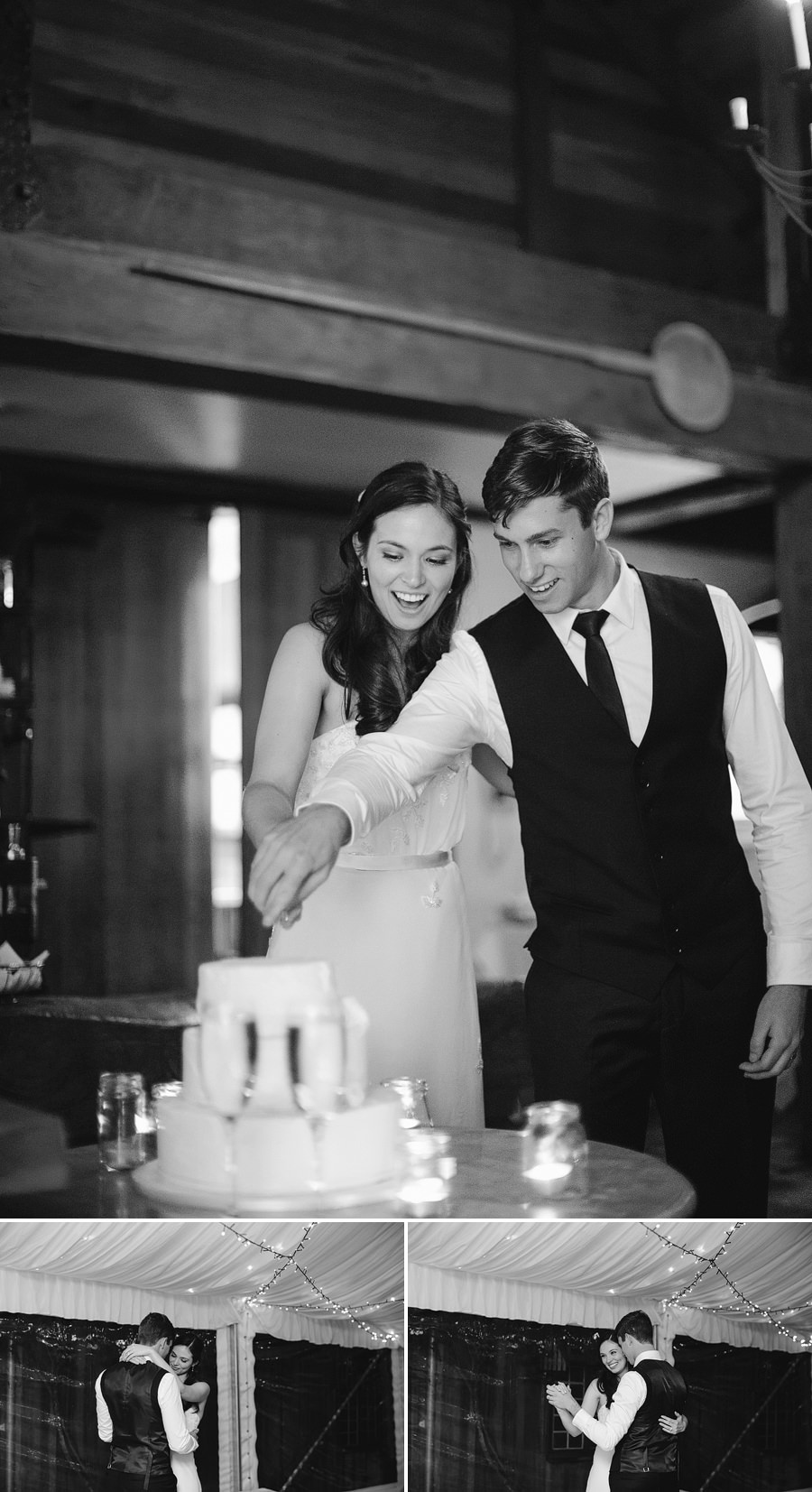 Sydney Wedding Photography: Bride & groom cutting cake