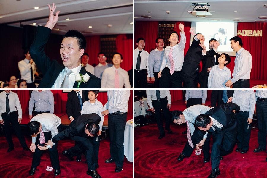 The Eight Wedding Photography: Garter Toss