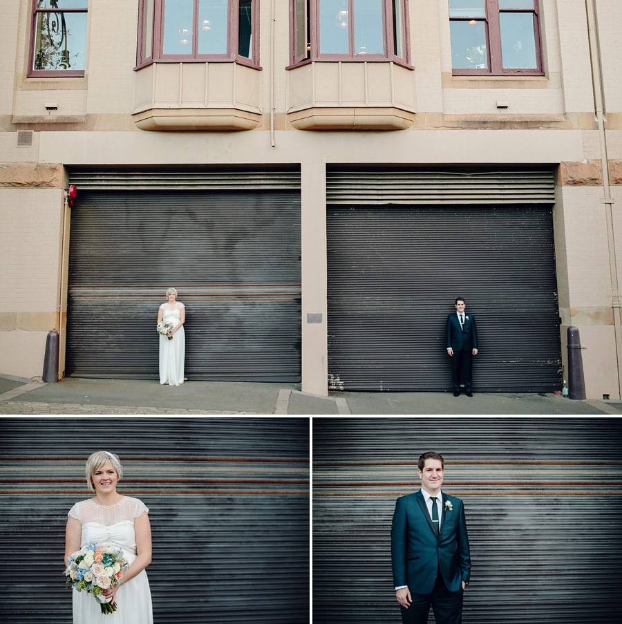 The Rocks Wedding Photographers: Bride & Groom portraits