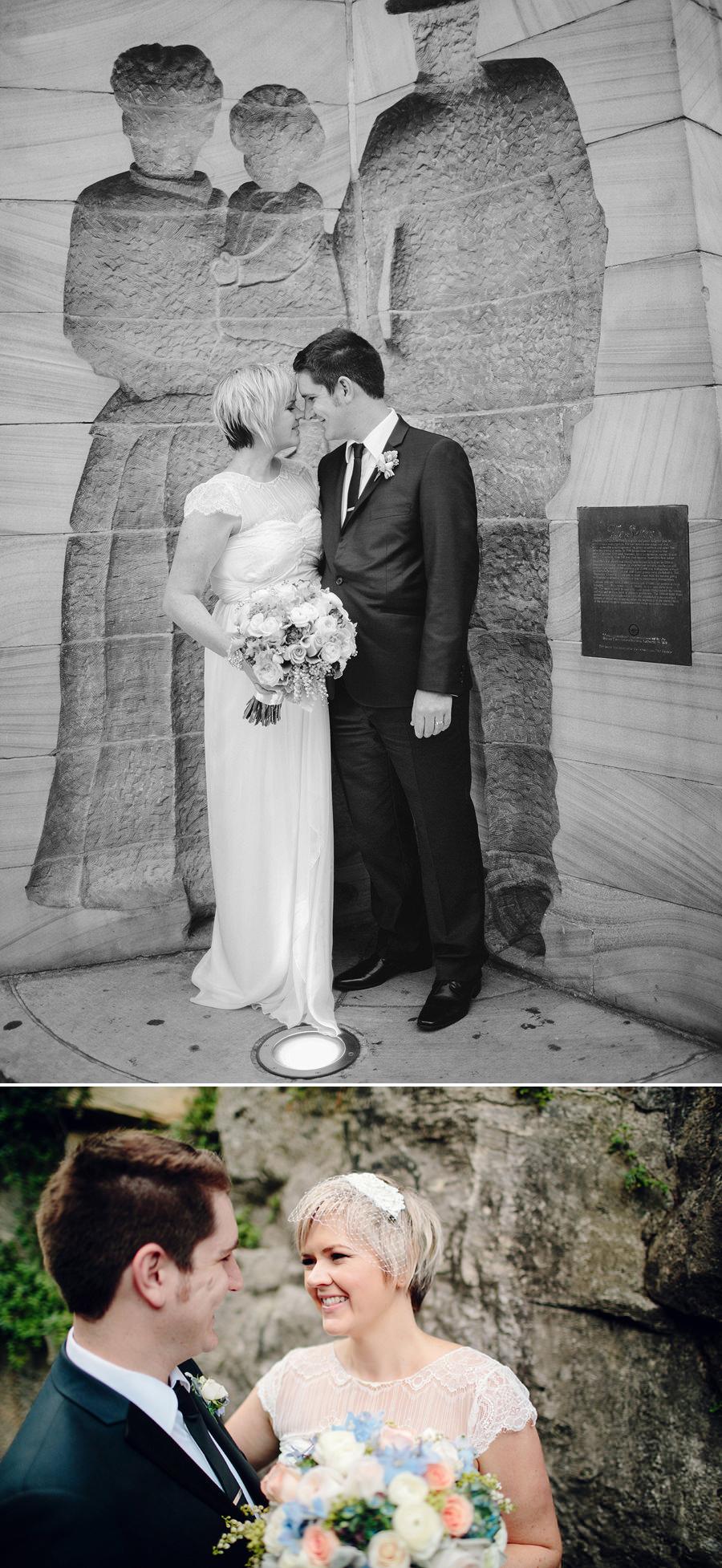 The Rocks Wedding Photography: Bride & Groom portraits