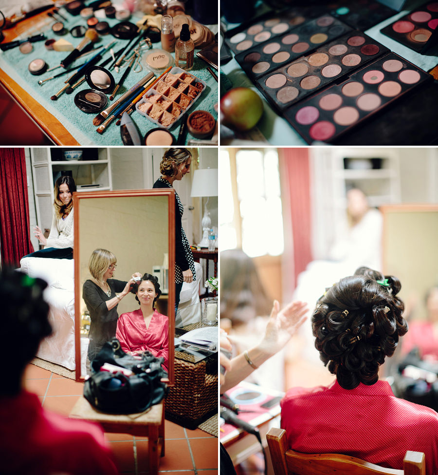 Timeless Wedding Photographer: Bride hair & makeup