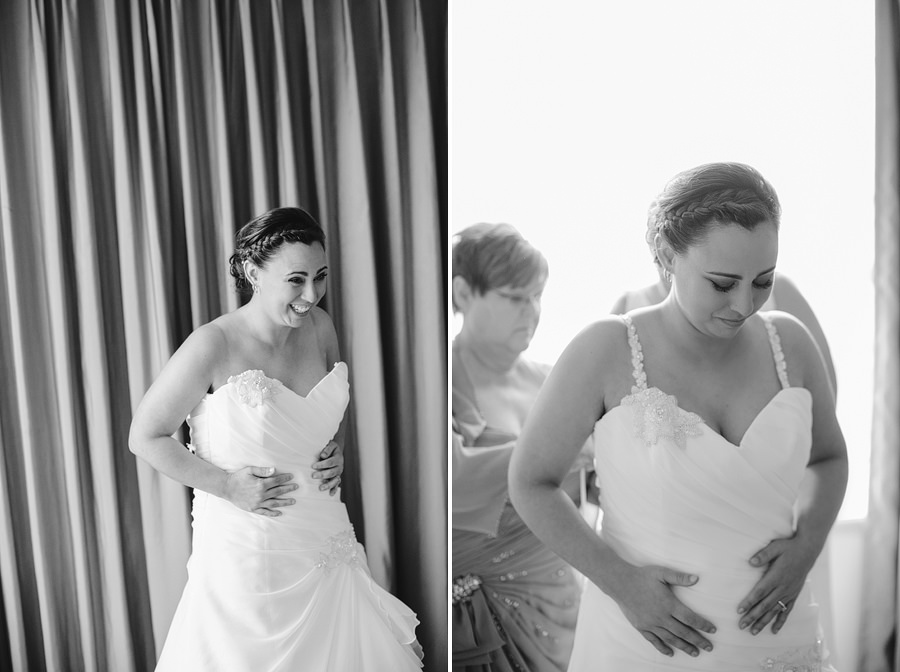Timeless Wedding Photographer: Bride getting dressed