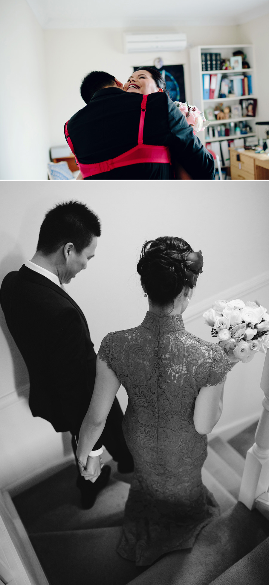 Traditional Chinese Wedding Photographer: Bride & Groom leaving brides house