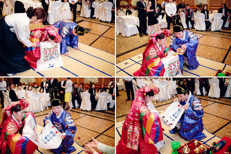 Korean Wedding Photographers: Traditional tea ceremony