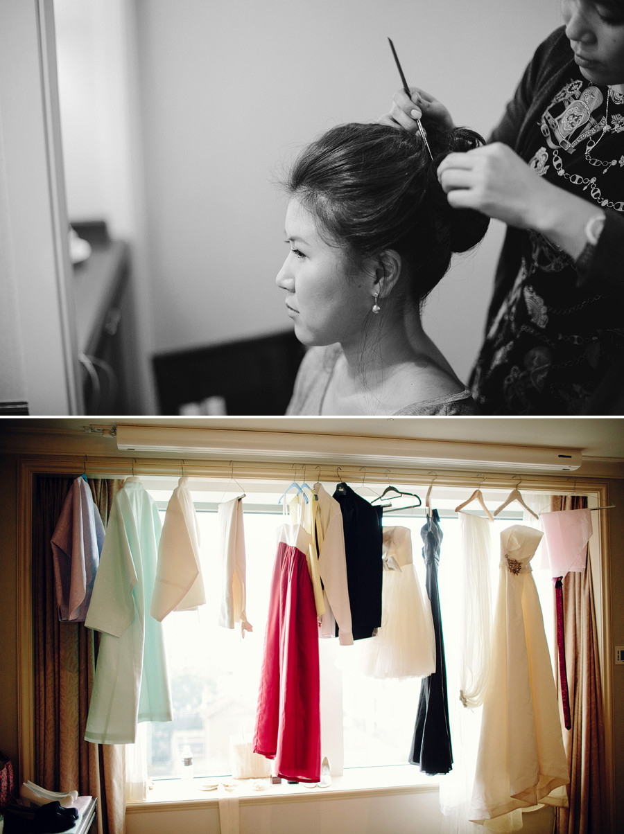 Shangrila Sydney Wedding Photographer: Wedding outfits