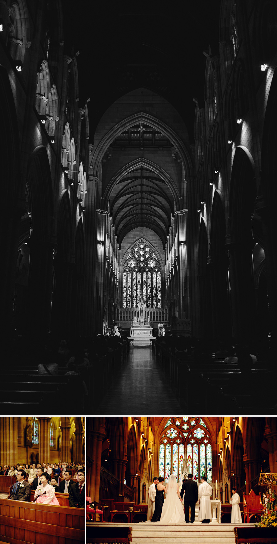 St Marys Cathedral Sydney Wedding Photographer: Aisle
