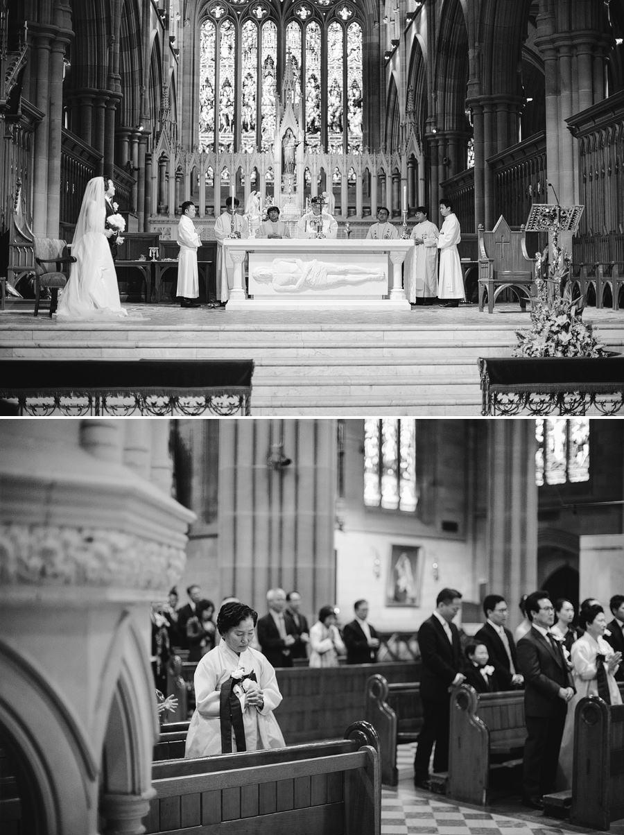 St Marys Cathedral Sydney Wedding Photographers: Korean wedding