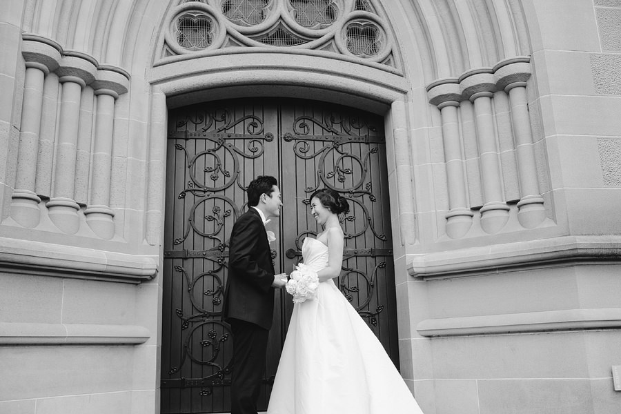 Sydney Wedding Photographer: Bride & Groom portraits outside church