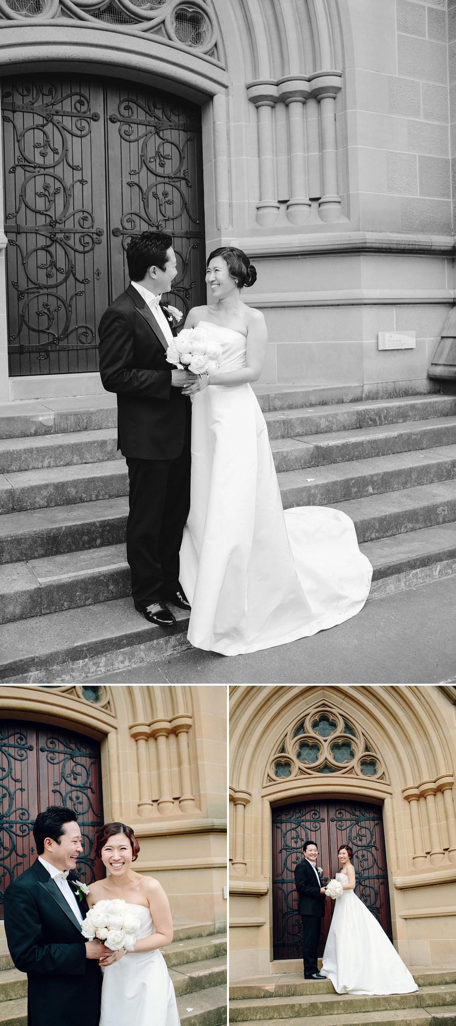 Sydney Wedding Photographer: Bride & Groom portraits outside church