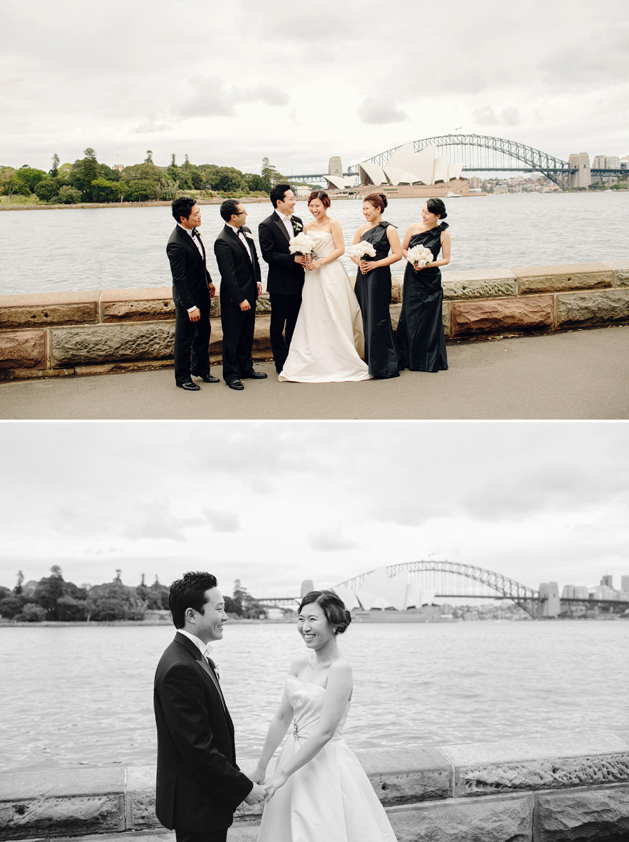 Sydney Wedding Photography: Bride & Groom with Harbour Bridge