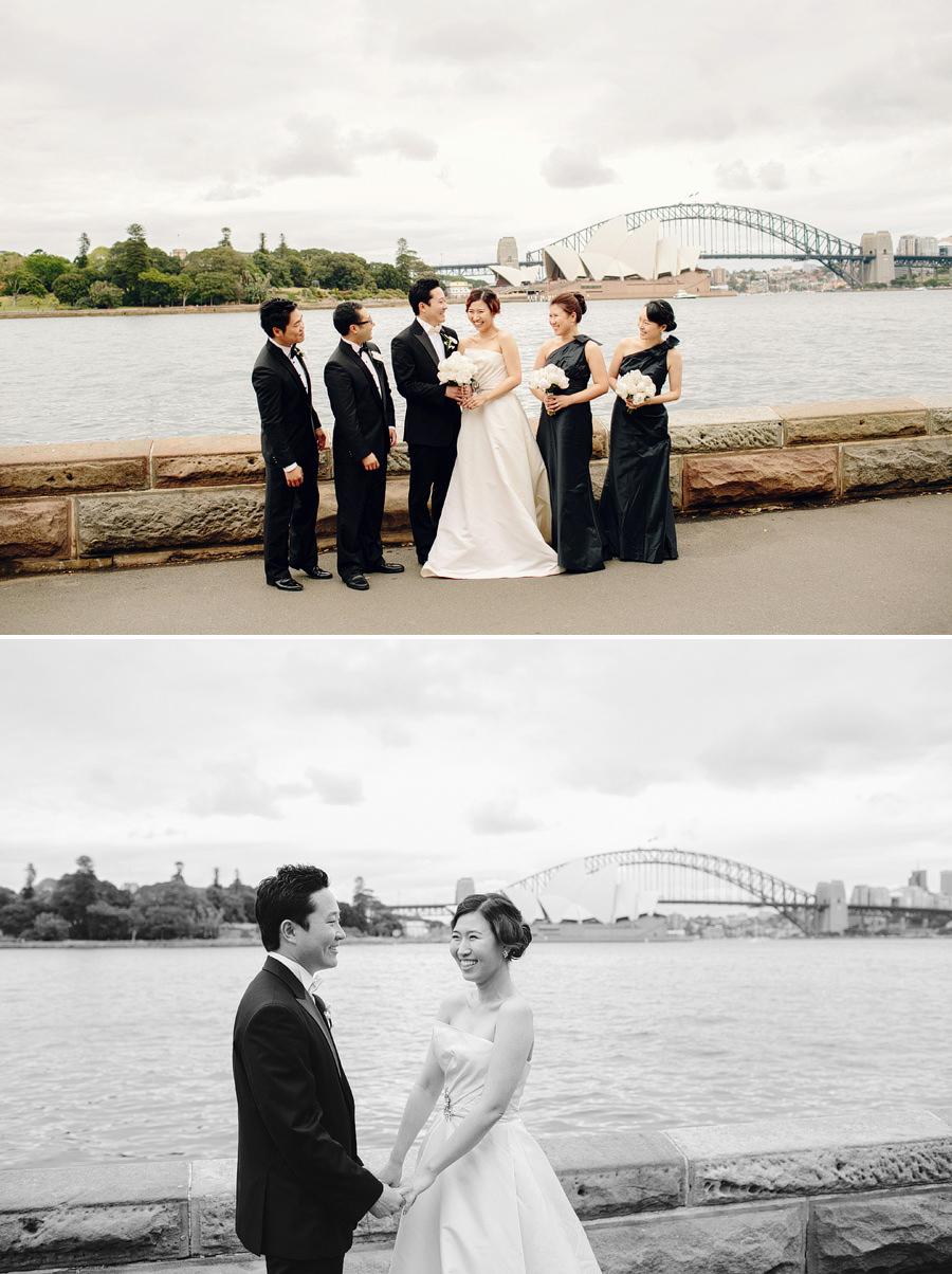 Sydney Wedding Photography: Bride & Groom with Harbour Bridge