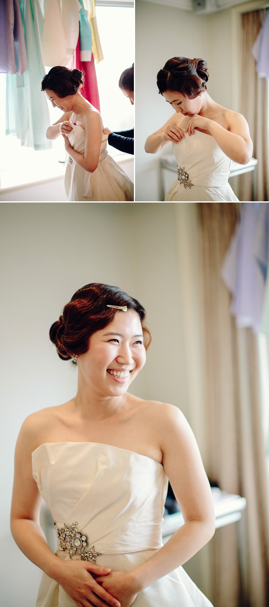 Sydney Wedding Photojournalist: Bride getting dressed